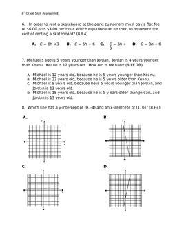 8th Grade Common Core Pre-Test for entire Year