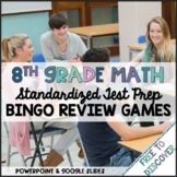 8th Grade Math Review Games Bundle