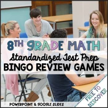 8th Grade Math Review Games Bundle
