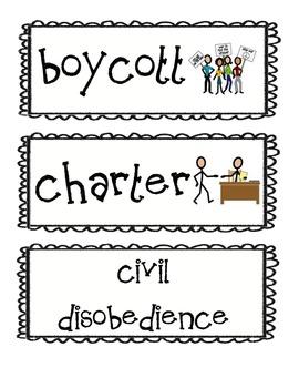 8th Grade Common Core Social Studies Academic Language