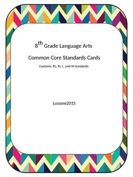 8th Grade Common Core Standard Cards