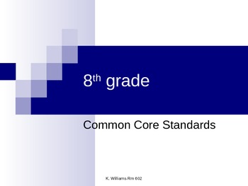 8th Grade Common Core Standards