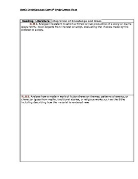 8th Grade Common Core Standards Planning and Tracking