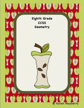 8th Grade Common Core Template and Organizer Integrated Math Package (Word)