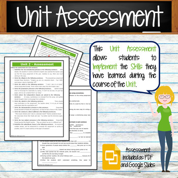 GRAMMAR & VOCABULARY PROGRAM - 8th Grade - Standards Based – Unit 2