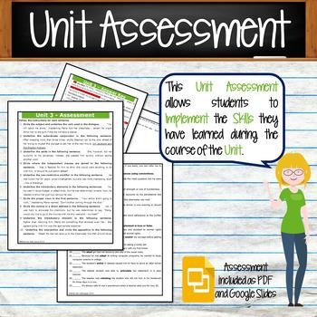 GRAMMAR & VOCABULARY PROGRAM - 8th Grade - Standards Based – Unit 3