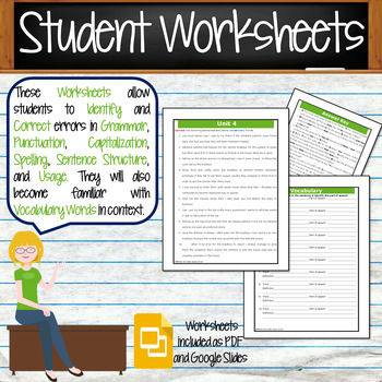 GRAMMAR & VOCABULARY PROGRAM - 8th Grade - Standards Based – Unit 4