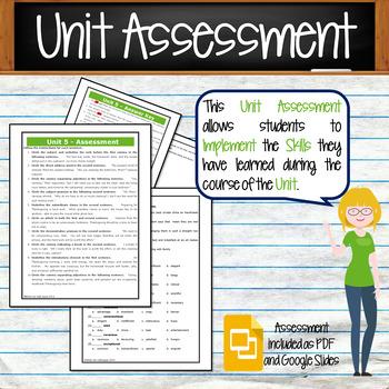 GRAMMAR & VOCABULARY PROGRAM - 8th Grade - Standards Based – Unit 5