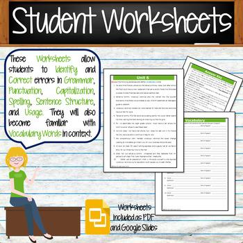 GRAMMAR & VOCABULARY PROGRAM - 8th Grade - Standards Based – Unit 6