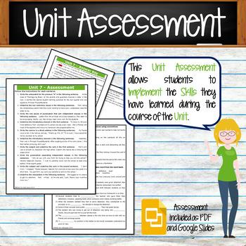 GRAMMAR & VOCABULARY PROGRAM - 8th Grade - Standards Based – Unit 7