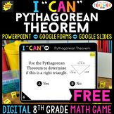 8th Grade DIGITAL I CAN Math Game   Pythagorean Theorem   FREE