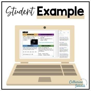 8th Grade Math Digital Dictionary 100% Editable Common Core Aligned Vocabulary