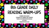 8th Grade Daily Reading Warm-Ups (Common Core Aligned)