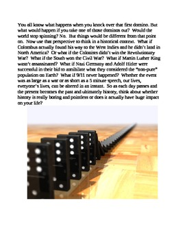 8th Grade Domino Effect Reading