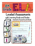 8th Grade ELA Assessment with Learning Goal 8.RL.1 and Sca