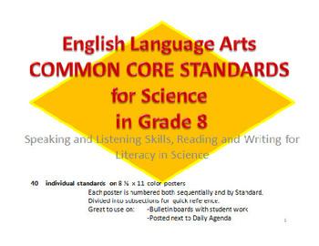 8th Grade ELA Common Core Standards for Science