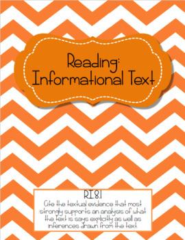8th Grade ELA Common Core Teacher Evidence Binder