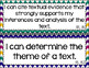8th Grade ELA I Can Statements for CCSS Standards (Jewel Tone Chevron)