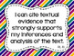 8th Grade ELA I Can Statements for CCSS Standards (Jewel Tone Stripes)