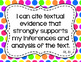 8th Grade ELA I Can Statements for CCSS Standards (Rainbow Dots)
