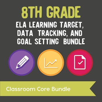 8th Grade ELA Learning Target, Data Tracking, & Goal Setting Bundle