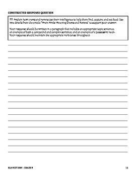 8th Grade ELA Midterm (Common Core Aligned)