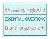 8th Grade ELA Springboard Essential Questions Posters