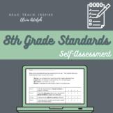 8th Grade ELA Standards Based Student Self-Assessment (Editable!)