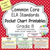 8th Grade ELA Standards Pocket Chart Printables (Common Core)