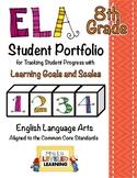 8th Grade ELA Student Portfolio Pages with Marzano Scales - FREE!