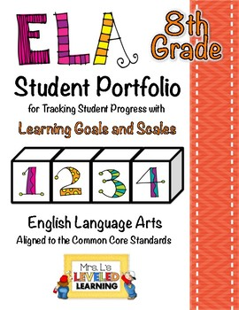 8th Grade ELA Student Portfolio Pages with Marzano Scales - FREE!