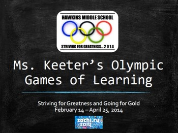 8th Grade ELA TCAP Practice Powerpoint - Olympic Theme