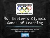 8th Grade ELA TCAP Practice Powerpoint - Olympic Theme