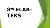 8th Grade ELAR TEKS (SE) I CAN STATEMENTS