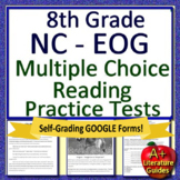 8th Grade EOG Test Prep NC READY ELA Reading Practice Tests Bundle
