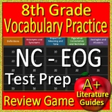 8th Grade EOG Test Prep NC READY Vocabulary Practice Review Game North Carolina