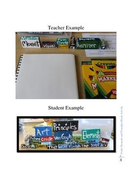 8th Grade Elements and Principles Block Activity