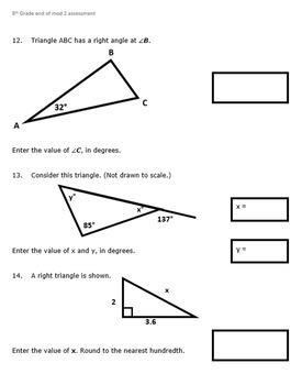 8th Grade End of Module 2 Assessment - Editable