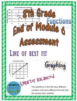 8th Grade End of Module 6 Assessment - Engage NY/Eureka Math - SBAC - Editable