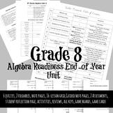 8th Grade End-of-Year Algebra Readiness Bundle