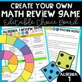 Algebra 1 End of Year Game Choice Board