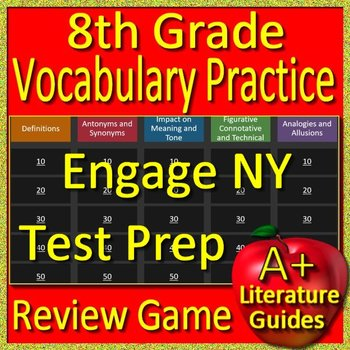 8th Grade Engage NY Test Prep Reading Vocabulary Practice Review Game