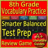 8th Grade Smarter Balanced Test Prep Reading Vocabulary Practice Review Game