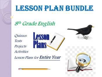 8th Grade English Annual Lesson Plan Bundle (Entire Year - 42 Weeks)