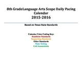 8th Grade English Language Arts Daily Pacing Guide