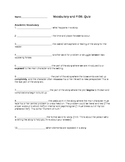 8th Grade English Story Arc and Part of Speech Quiz
