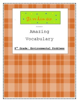8th Grade Environmental Problems Vocabulary Packet