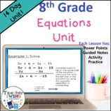 8th Grade Equations Unit Common Core Standard 8.EE.C.7