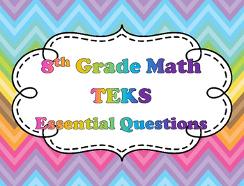 8th Grade Math Essential Questions - TEKS