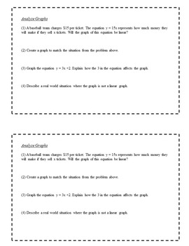 8th Grade Exit Slips: Expressions and Functions